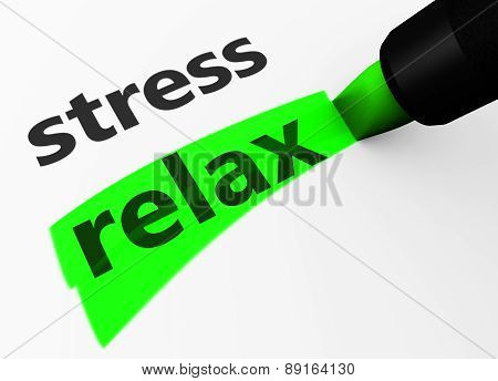 Relax Vs Stress Choice Concept