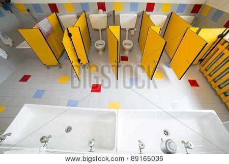 Bathroom Nursery School Photographed From Above