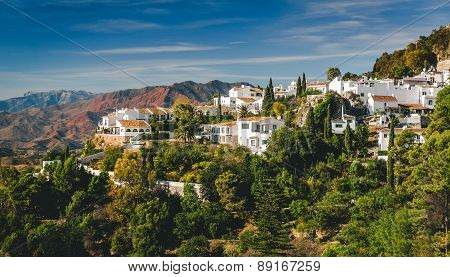 Charming little white village of Mijas. Costa del Sol Andalusia. Spain poster