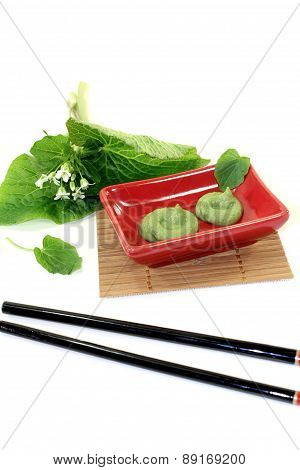 Wasabi With Leaf And Blossom