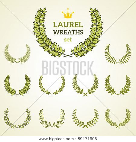 Premium quality laurel wreath collection