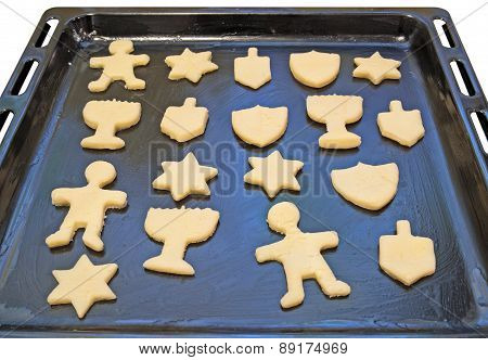 Dough preform. Hanukkah cookies