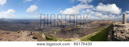 Lanzarote - Panorama from the Montana de Guardilama