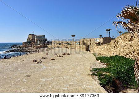 Caesarea Maritima National Park Ancient Roman city Israel poster