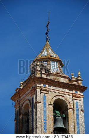 Church bell tower, Bornos.