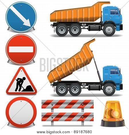 Vector Road Construction Icons set