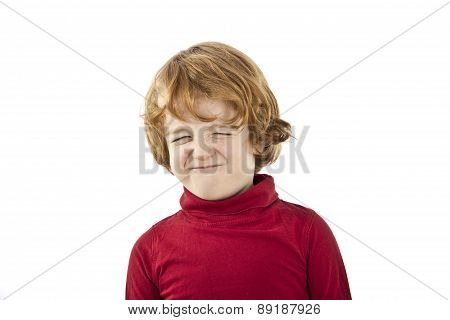 toddler tantrum angry child isolated on white background
