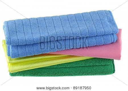 Different types of Micro Fiber cleaning cloth with static electricity that attracts dust poster