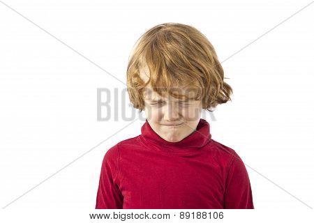 toddler tantrum isolated on white background