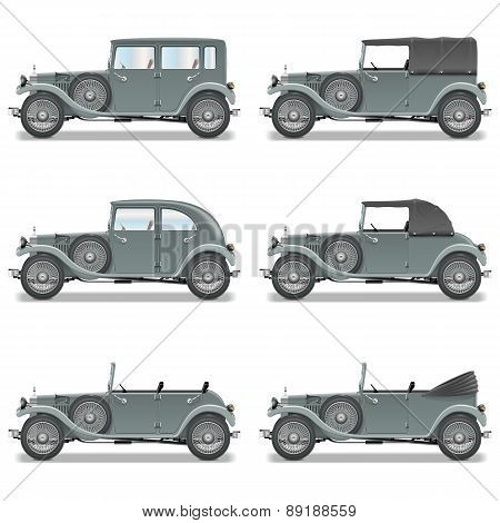 Vector Old Cars