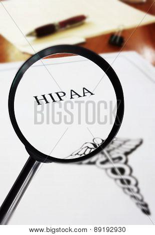 HIPAA Document Magnified