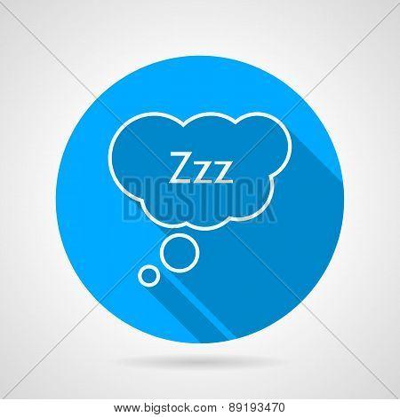 Sleep bubble flat round vector icon