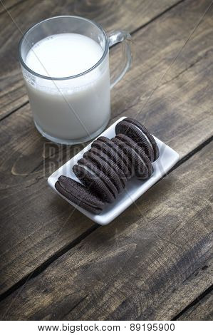 Chocolate Oreo Cookies On The Table
