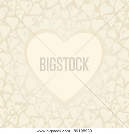 Wedding vintage Ecru invitation design with copyspace