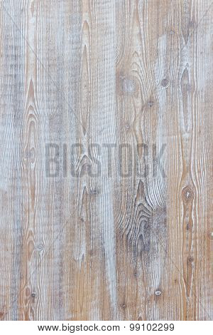 Aged wooden background of weathered distressed rustic wood boards with faded light blue paint showing brown woodgrain texture poster
