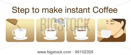Step to make instant coffee