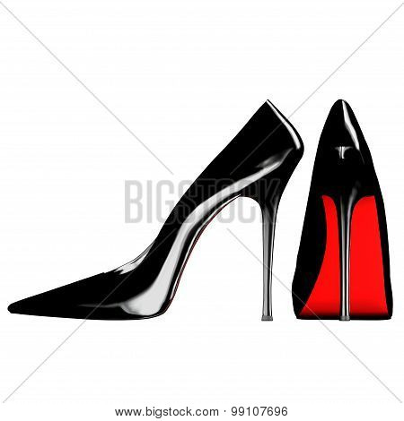 Pair of very glam pump shoes.