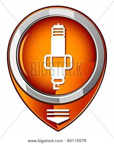 Sparkplug Single Orange Pointer.
