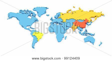 World map of BRIC