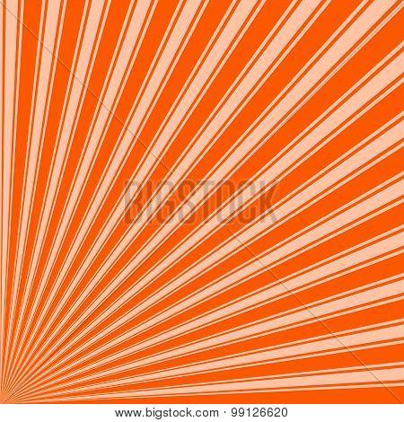 Willpower orange Color Stripe Funky Sun Rays Backgound