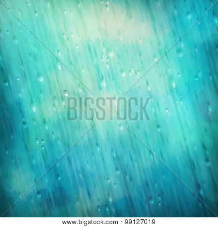 Colorful Blue Rain Background