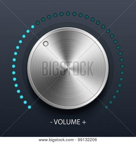 Volume Knob With Metal Texture