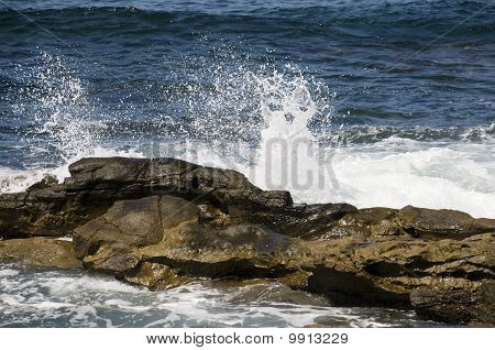 Waves Crashing in Pacific