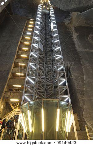 Salt Mine In Turda