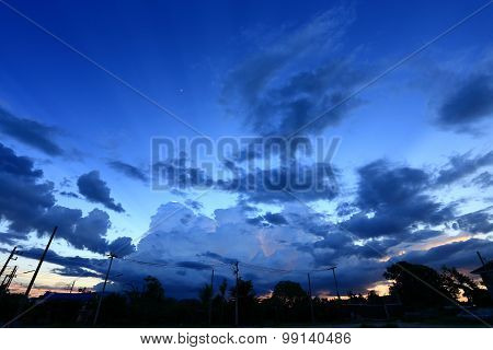 Night Sky With Cloud Background