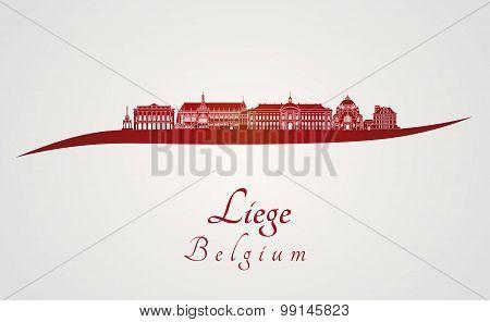 Liege Skyline In Red