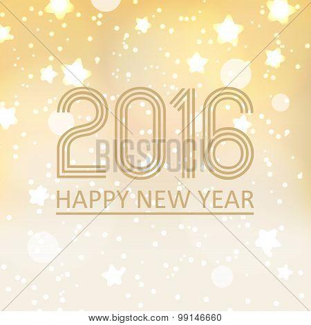 Happy New Year 2016 On Shiny Christmas Background Eps10