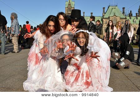Zombie walk in Ottawa