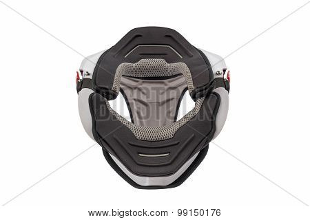 Front view of Used white bike neck brace