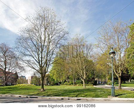 A view of the Montsouris Park, famous Parisian garden (Paris France)