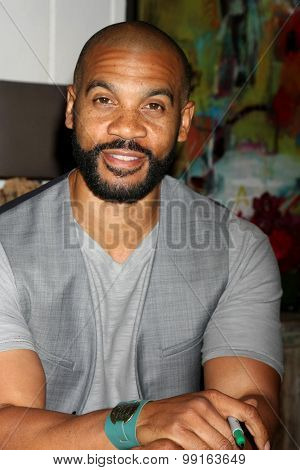 LOS ANGELES - AUG 14:  Aaron D. Spears at the Bold and Beautiful Fan Event Friday at the CBS Television City on August 14, 2015 in Los Angeles, CA