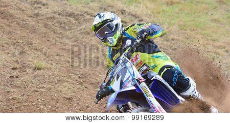 Motocross In Sariego, Spain.