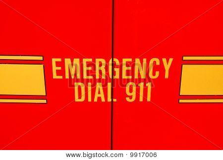 Emergency vehicle door