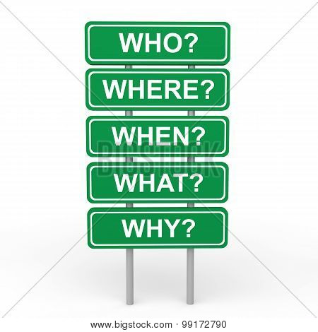 3d who where when what why sign