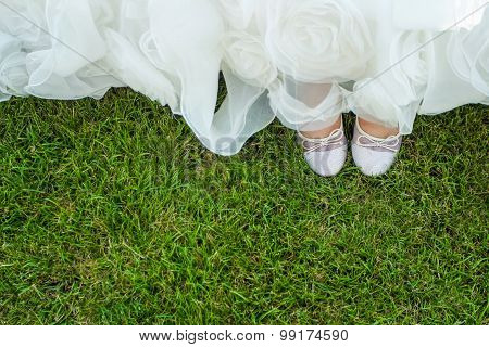 Birds Eye View Of Brides Shoes