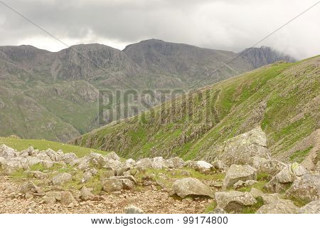 Scafell Pike from Green Gable