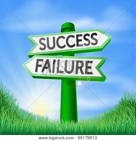 Success Or Failure Decision Sign