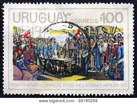 Postage Stamp Uruguay 1975 Trade Agreement
