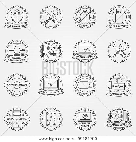 Computer service badges