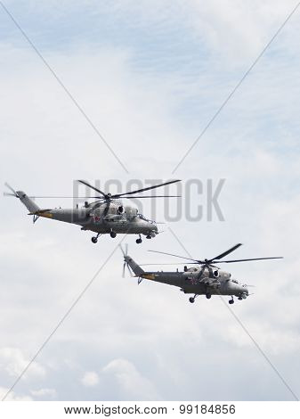 Two Military Helicopters Mi-35