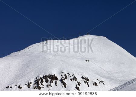 Off-piste Slope And Ropeway