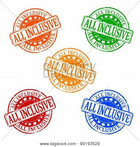 Damaged Colorful Stamps - All Inclusive