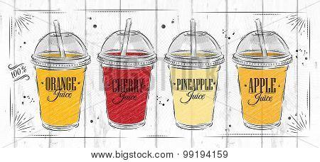 Poster Set Of Juice