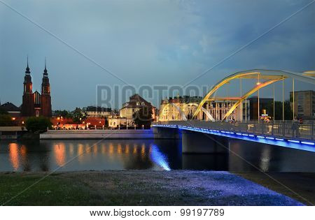 View Of The City Of Opole