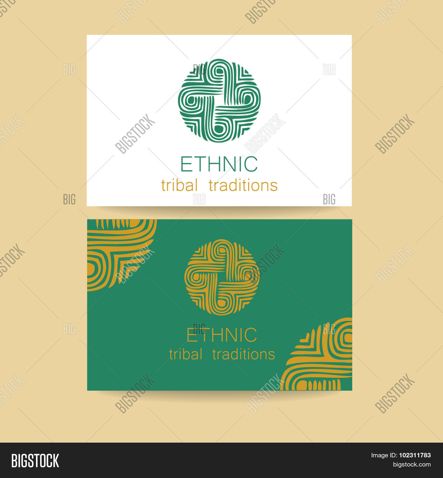 Ethnic Logo Vector Photo Free Trial Bigstock