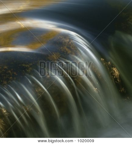 Beautiful Waterfall Close-Up
